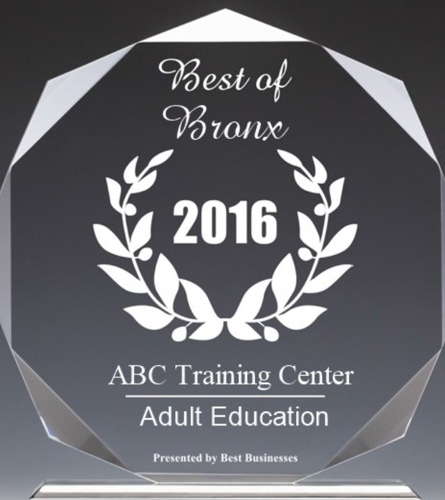 ABC Training Center - 2016 Best Businesses of Bronx Award