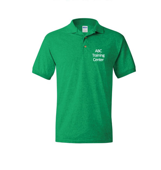 ABC Training Center Dark Green Collar Shirt