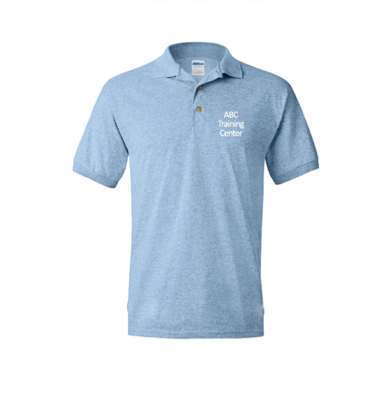 ABC Training Center Light Blue Collar Shirt