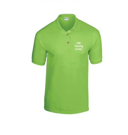 ABC Training Center Light Green Collar Shirt