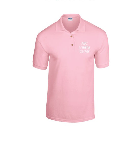 ABC Training Center Light Pink Collar Shirt