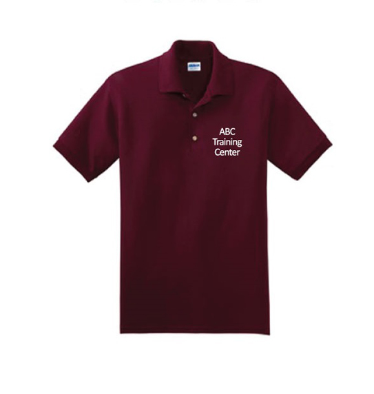 ABC Training Center Maroon Collar Shirt