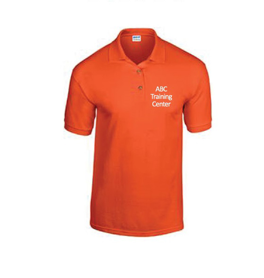 Orange Collar Shirt Shop at ABC Training Center