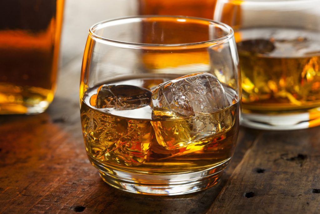 Glass of Scotch on the Rocks