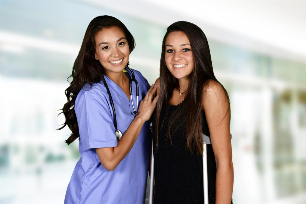 Medical Assistant and Patient