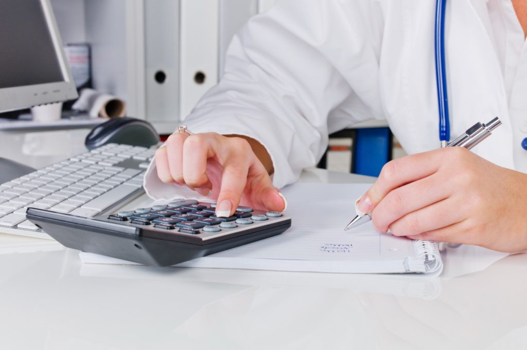 Medical Professional Calculating Pay