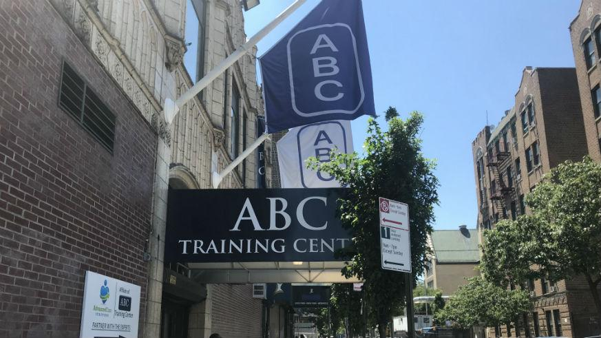 Side View of ABC Training Center's Entrance
